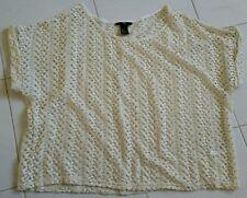 H&M Knitted Top Beige Beachwear Size XS