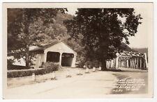 "Vintage Postcard - ""Old & New Bridges Over Cheat River"" [Dawson Camp, WV]"