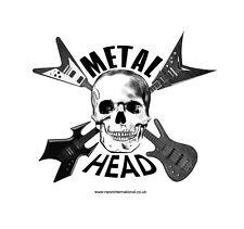 HEAVY METAL HEAD STICKER BIKER LAPTOP HELMET BICYCLE CAR MOTORBIKE