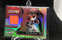 2020 Panini Prizm Tee Higgins Premier Silver #17 Jersey Patch RC Rookie Bengals