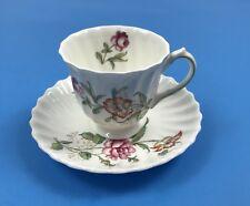 Royal Doulton CLOVELLY Floral Demitasse Cup & Saucer