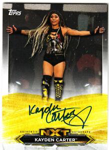 2020 TOPPS WWE NXT KAYDEN CARTER  ON-CARD AUTOGRAPH SP