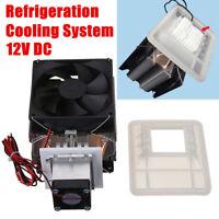 12V 72W Thermoelectric Peltier Refrigeration Cooling System Kit Cooler Fan DIY