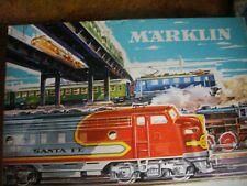 MARKLIN WEST GERMANY TRAIN SET 3160 4 CARS + LOCOMOTIVE + TRACK ORIGINAL BOX +
