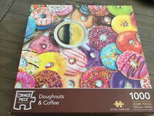 Corner Piece Puzzles 1000 Piece Doughnuts and Coffee Jigsaw Puzzle
