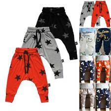 Kids Boys Girls Printed Harem Pants Sweatpants Sport  Casual Trousers 2-7 Years