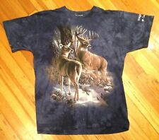 The Mountain 2 DEER T-Shirt Buck Size LARGE (L)  EXCELLENT Hunting FREE SHIP!