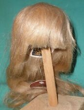 "Peluca de muñeca/11"" a 12"" de pelo humano cabello rubio, largo"