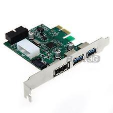 Scheda Espansione Adattatore PCIE 2 Porte USB3,0 20pin Power ESATA 5Gbps per PC