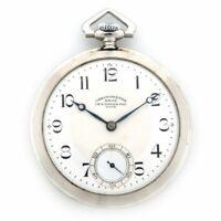 Tissot Pocket Watch Chronometer Hand Winding White Dial Stay Bright Men's
