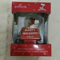 Peanuts Snoopy Hallmark Tree Ornament Red Baron Happy Holidays 2014 New In Box