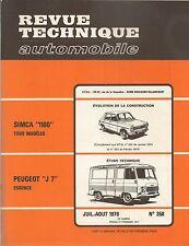 REVUE TECHNIQUE AUTOMOBILE 358 RTA 1976 PEUGEOT J7 SIMCA 1100 1100 Ti SPECIAL