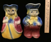 "Little Bo Peep & Boy Blue Pitchers Shawnee Pottery USA Vintage Ceramic 7"" Set 2"