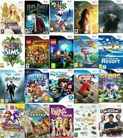 Nintendo Wii Video Game Buy 1 or Bundle Up Super Mario Sonic Olympics Lego