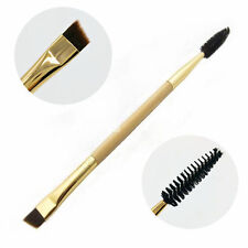 NEW Makeup tools bamboo handle double eyebrow brush + eyebrow comb makeup brush