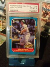 1987 Donruss Highlights #46 Mark McGwire PSA 8 NM-MT Oakland Athletics Card