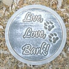 Dog mold stepping stone plastic live love bark mold mould