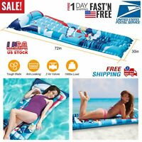 SWIMMING POOL MATTRESS Inflatable Water Float Raft Floating Lounge Heavy Duty