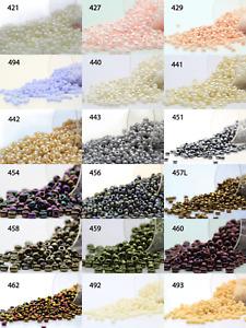 Miyuki Round Rocailles 11/0 Seed Beads - 20grs Bag Various colors - PS37