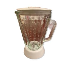 Hamilton Beach 5 Cup 40 OZ Glass Blender Pitcher Lid Vintage Replacement Part