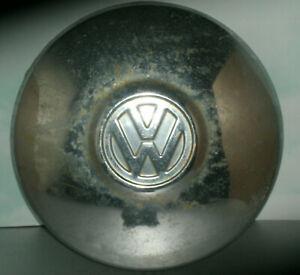 "Vintage 1970's Volkswagen Beetle Hubcap 10"" Chrome Dog Dish Wheel Hub Cap"