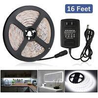16Ft 300-LED SMD-3528 RGB White LED Flexible Tape Strip Light w/ Power Supply