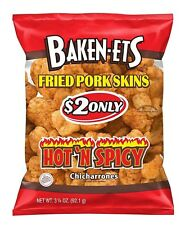 New Baken-Ets Hot 'N Spicy Fried Pork Skins 3.25 Oz Each 15 Ct - FREE SHIPPING