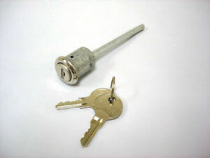Polished Door Lock Cylinder w/ Keys 1928-1948 Ford Passenger Car & Pickup Truck