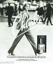 PUBLICITE ADVERTISING 036  1977  Revlon parfum Charlie