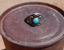 Vintage Sterling Turquoise Bell Trading Post Thunderbird Ring