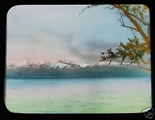 Glass Magic Lantern Slide OLYMPIC MOUNTAINS BRITISH COLUMBIA C1910 CANADA