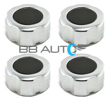 SET OF 4 NEW CHROME WHEEL HUB CENTER CAPS COVERS 2wd BLACK FOR PATHFINDER