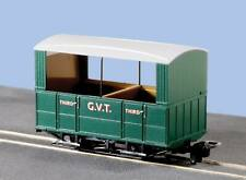 More details for g.v.t. 4 wheel oo-9 coach, open sides - peco gr-520