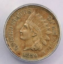 1859 Indian head cent ICG AU50