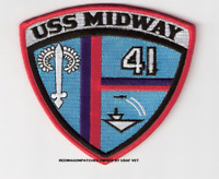 USS MIDWAY CV-41   PATCH  AIRCRAFT CARRIER   4 inch  patch