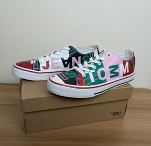 Tommy Hilfiger Womens Colourful Colour Block Fun Retro Sneakers - Size 38 NEW