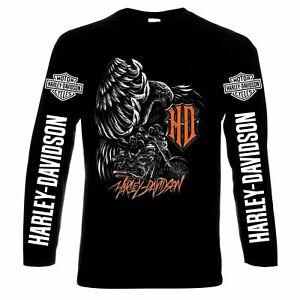 Harley Davidson,motor,bike,chopper,men's,long sleeve,t-shirt,100% cotton