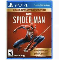 Marvel Spider-Man  Playstation 4 PS4 Game Of The Year Edition Brand New Sealed
