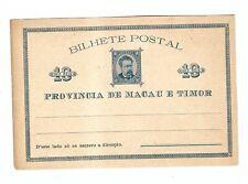 stkbox china Portugal MaCAU  19TH CENTURY PS POSTALCARD STATIONERY