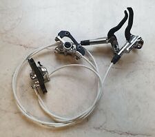 Shimano XTR BR-M985 Front & Rear Disc brakes set calipers, levers & white hoses