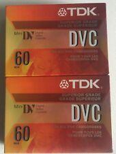 New Sealed Tdk Dvc 60 Superior Grade Mini Dv Camcorder Tape Lot of 2