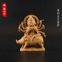 Tibetan Buddhism Hand Carved wood statue Car decoration Marici Bodhisattva A27