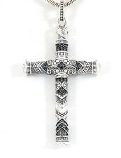 THOMAS SABO - Anhänger Silber Zirkonia schwarz Rebel at Heart Maori Kreuz PE772
