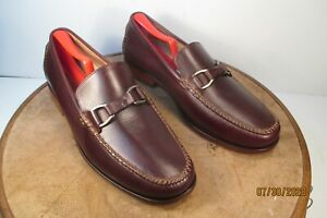 Cole Haan Brown Leather Loafers Leather Silver horse bit size 9.5 M