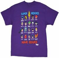 Super Heroes Have Issues Too DC Comics Licensed Adult T Shirt