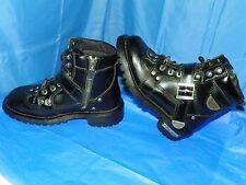 MILWAUKEE BLACK LEATHER MOTORCYCLE RIDING BOOTS WOMENS SIZE 6.5