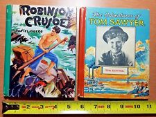 1938 TOM SAWYER movie tie-in book + 1940 Robinson Crusoe book , McLaughlin Bros.