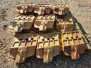 (5) John Deere/Black Cat 944K wheel loader cutting edges part# T1099082