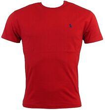 Men'S POLO RALPH LAUREN Classic Fit Girocollo Manica Corta T-Shirt Rossa XL NUOVA CON ETICHETTA