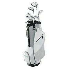 Wilson Ultra Womens Right Handed Complete Golf Club Set With Cart Bag Gray/mint